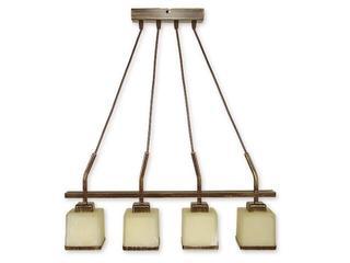 Lampa wisząca Duo listwa 4-płomienna brązowa O1424 BR Lemir