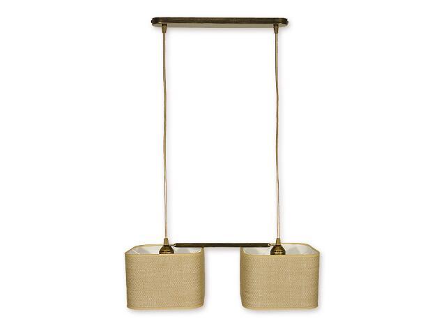 Lampa wisząca Helion 2-płomienna oliwka złota O1372 OLZ Lemir