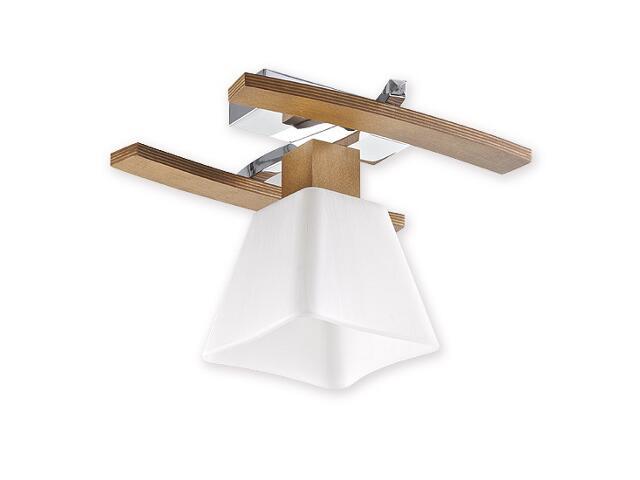 Lampa wisząca Dreno 1-płomienna chrom dąb O1471 DB Lemir