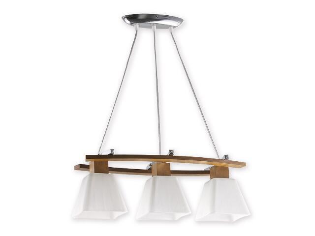 Lampa wisząca Dreno listwa 3-płomienna chrom dąb O1473 DB Lemir