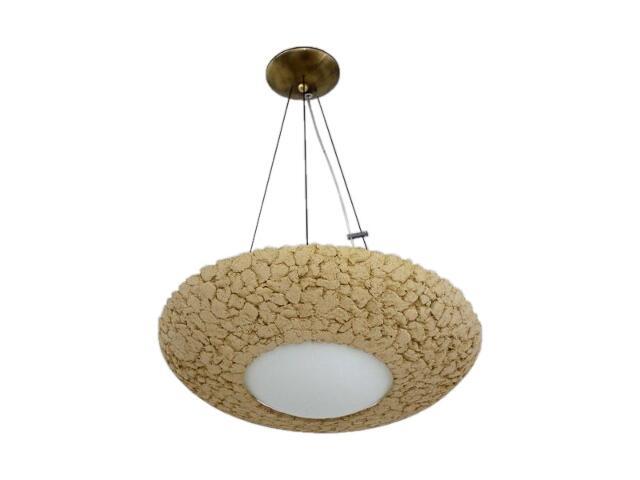 Lampa sufitowa MILO 44cm jasna szamot 1656 Cleoni