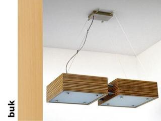 Lampa sufitowa CALYPSO DUE średnia buk 1206W2S202 Cleoni