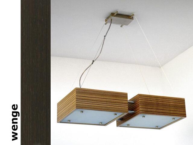Lampa sufitowa CALYPSO DUE średnia wenge 1206W2S204 Cleoni