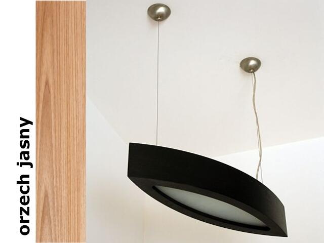 Lampa sufitowa NOLA 60 średnia wisząca orzech jasny 3500W1E210 Cleoni