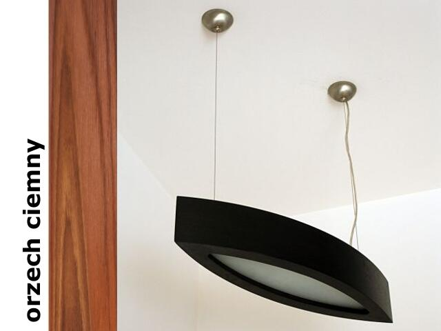 Lampa sufitowa NOLA 90 duża wisząca orzech ciemny 3500W2P209 Cleoni