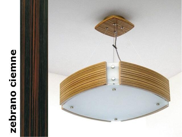 Lampa sufitowa ATLANTIC IV duża zebrano ciemne 1208WS4206 Cleoni