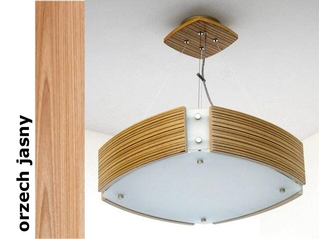 Lampa sufitowa ATLANTIC IV średnia orzech jasny 1208WM4210 Cleoni