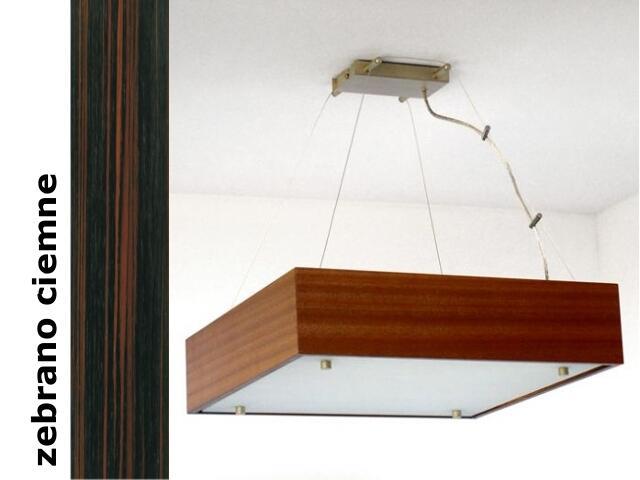 Lampa sufitowa CALYPSO duża zebrano ciemne 1206W1D206 Cleoni