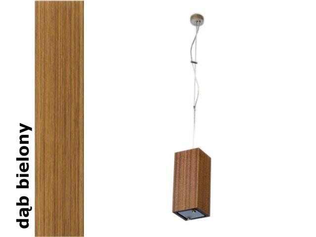 Lampa sufitowa TUBA mała dąb bielony 1203W1M208 Cleoni