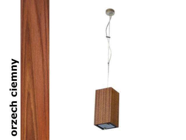 Lampa sufitowa TUBA mała orzech ciemny 1203W1M209 Cleoni