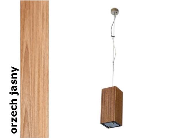 Lampa sufitowa TUBA mała orzech jasny 1203W1M210 Cleoni