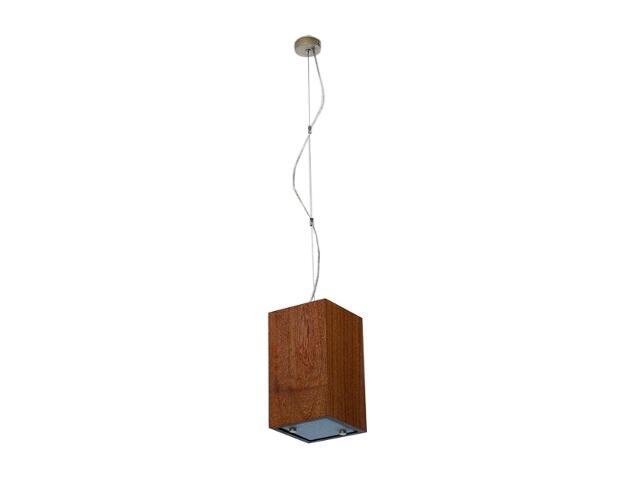 Lampa sufitowa TUBA średnia orzech ciemny 1203W1S209 Cleoni