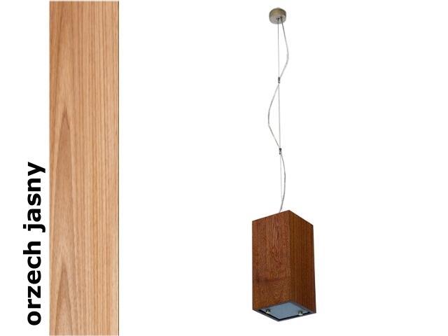 Lampa sufitowa TUBA średnia orzech jasny 1203W1S210 Cleoni