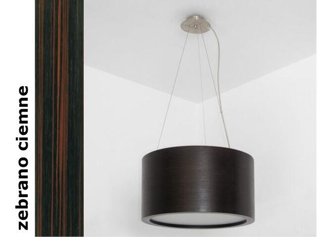 Lampa sufitowa LUKOMO 35 duża zebrano ciemne 8663H206 Cleoni