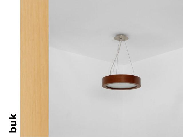 Lampa sufitowa LUKOMO 35 średnia buk 8661A2202 Cleoni