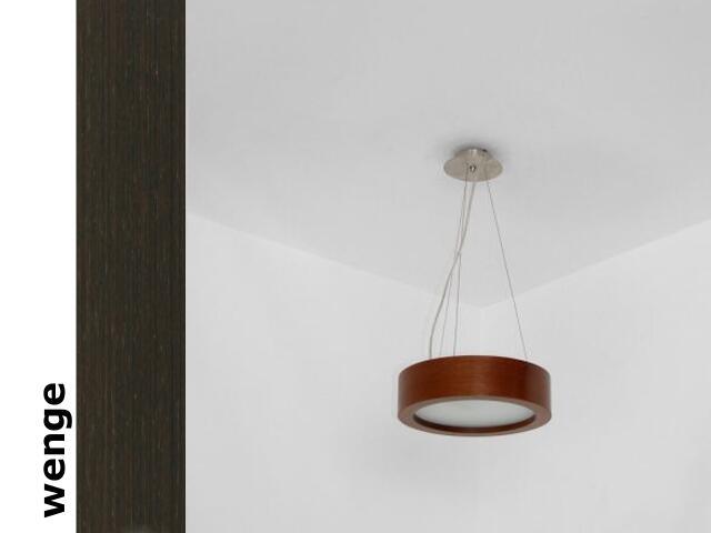 Lampa sufitowa LUKOMO 30 średnia wenge 8667A1204 Cleoni
