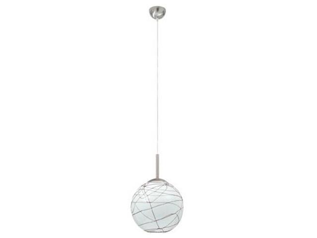 Lampa wisząca Giba max.60W nikiel satyna opal brąz Paulmann