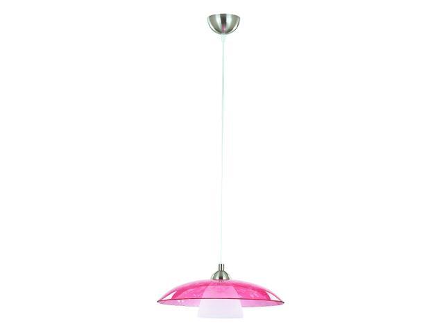 Lampa wisząca FLEURETTE 1xE27 60W fioletowa 11352 Alfa
