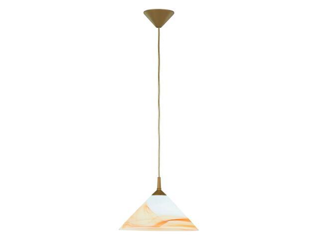 Lampa wisząca CHIŃCZYK 2 1xE27 60W bursztyn 11851 Alfa