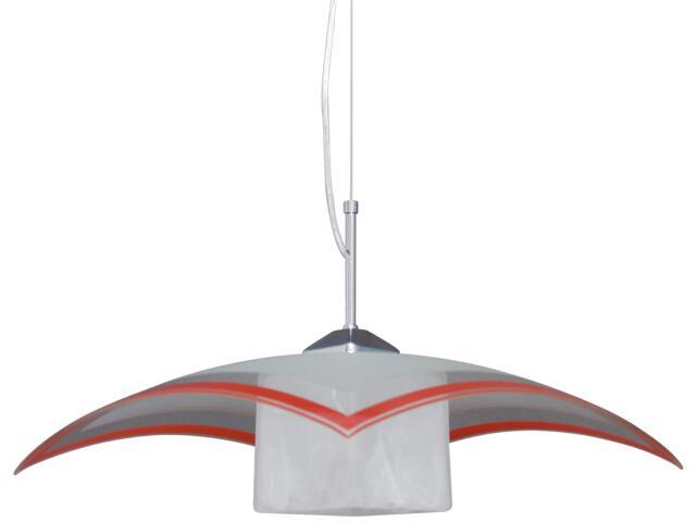 Lampa wisząca Vetro 1xE27 60W K-1520 ZK5-90 czerwona Kaja