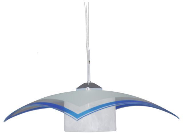 Lampa wisząca Vetro 1xE27 60W K-1520 ZK5-90 niebieska Kaja