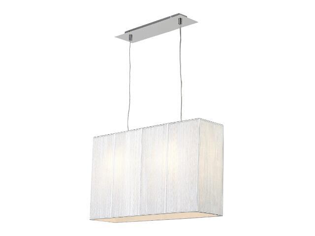 Lampa sufitowa Barcelona1 2x40W E27 mała srebrna Sanneli Design