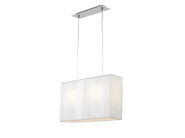 Lampa sufitowa Barcelona1 2x60W E27 duża srebrna Sanneli Design