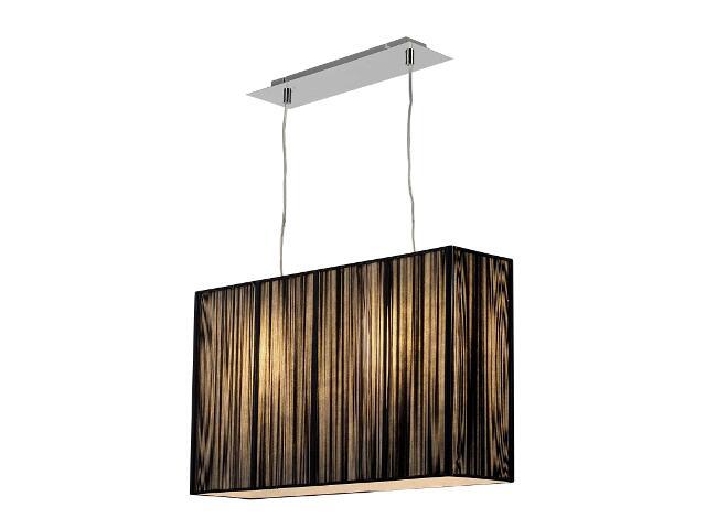 Lampa sufitowa Barcelona2 2x40W E27 mała czarna Sanneli Design
