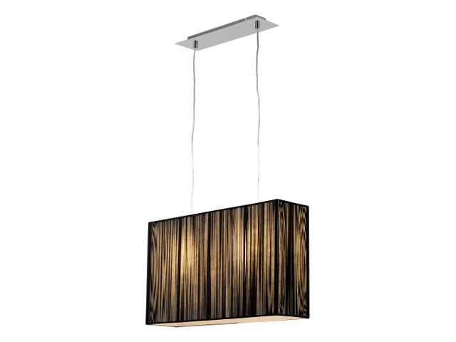 Lampa sufitowa Barcelona2 2x60W E27 duża czarna Sanneli Design