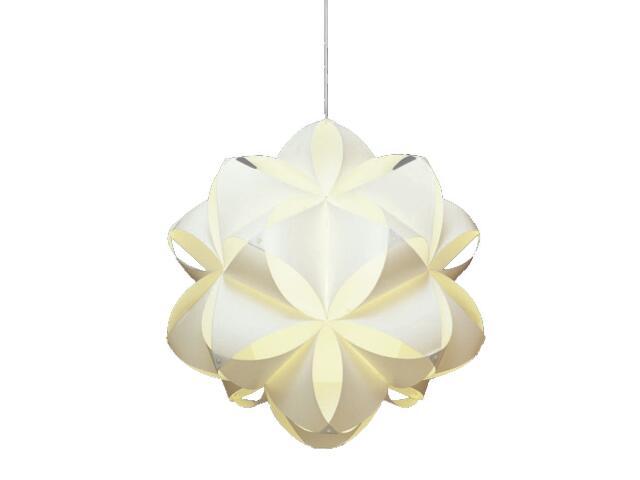 Lampa sufitowa Dali 1x40W E27 biała Sanneli Design