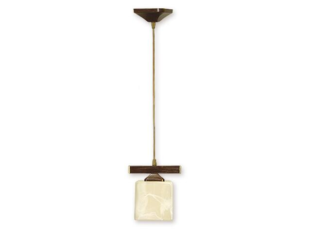Lampa wisząca Kostka zwis 1-płomienny brązowy O1067/W1 BR Lemir