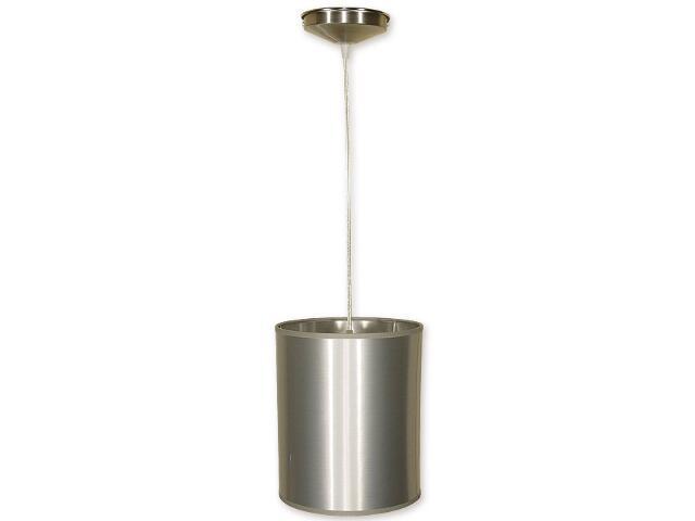 Lampa wisząca Mały walec zwis abażur 1-płomienny nikiel O1200/W1 K_3 Lemir