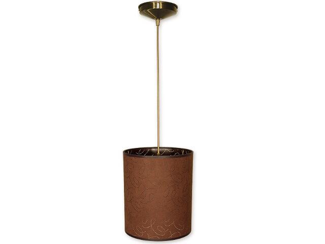 Lampa wisząca Mały walec zwis abażur 1-płomienny oliwka O1200/W1 K_4 Lemir