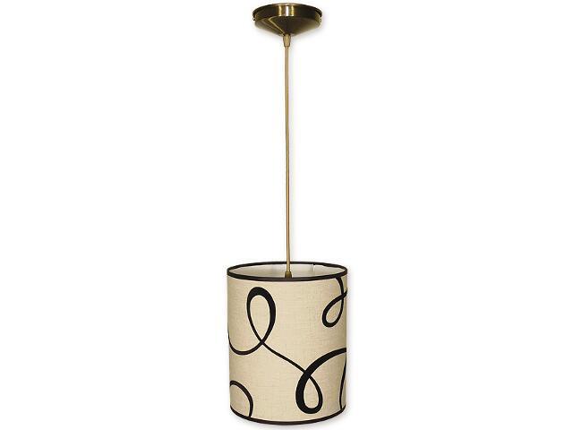 Lampa wisząca Mały walec zwis abażur 1-płomienny oliwka O1200/W1 K_5 Lemir