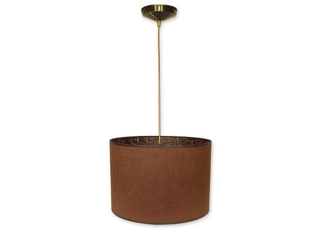 Lampa wisząca Duży walec zwis abażur 1-płomienny oliwka O1200/W1 K_9 Lemir