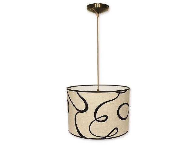 Lampa wisząca Duży walec zwis abażur 1-płomienny oliwka O1200/W1 K_10 Lemir