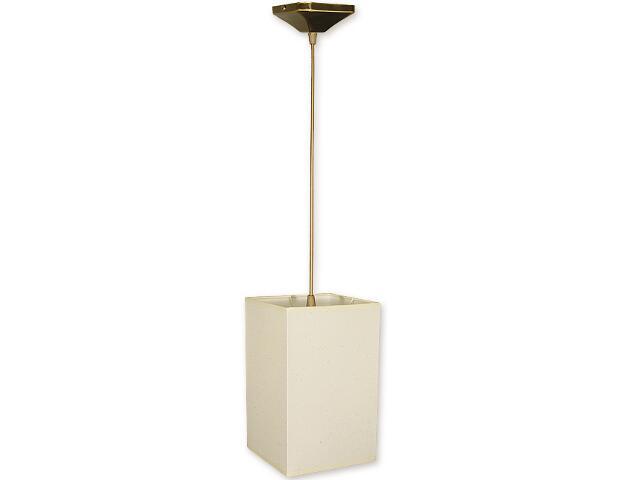 Lampa wisząca Mały kwadrat zwis abażur 1-płomienny oliwka O1201/W1 K_4 Lemir