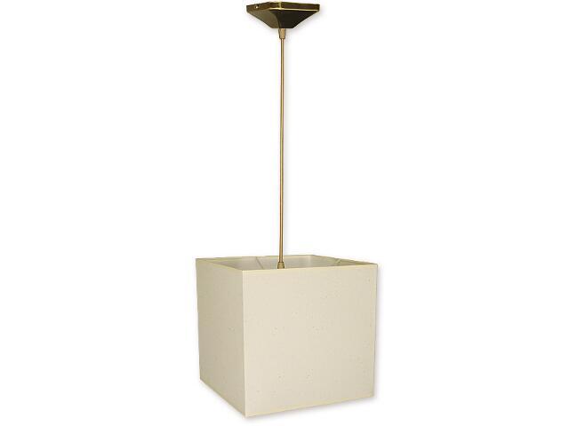 Lampa wisząca Duży kwadrat zwis abażur 1-płomienny oliwka O1201/W1 K_9 Lemir