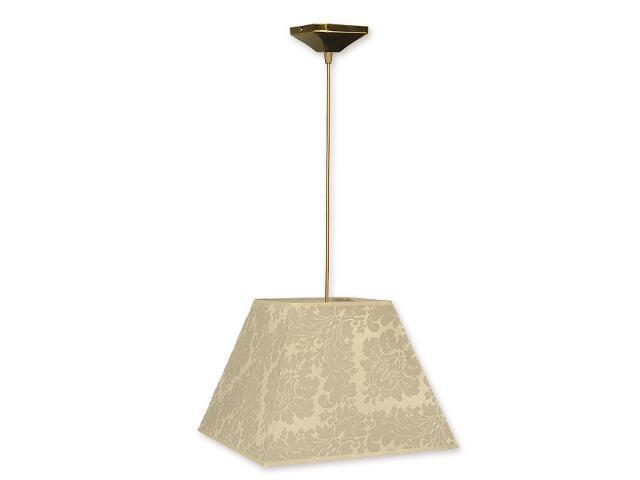 Lampa wisząca Topaz zwis abażur 1-płomienny oliwka O1201/W1 K_13 Lemir