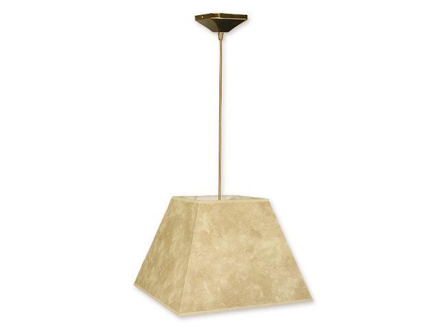 Lampa wisząca Topaz zwis abażur 1-płomienny oliwka O1201/W1 K_15 Lemir