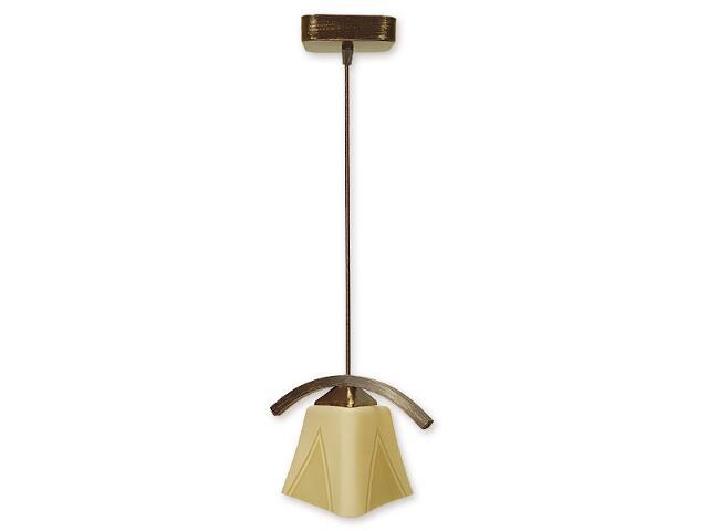 Lampa wisząca Lori zwis 1-płomienny brązowy O1407 BR Lemir