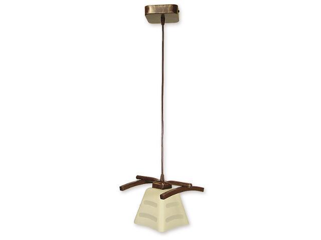 Lampa wisząca Dipol zwis 1-płomienny brązowy O1417 BR Lemir