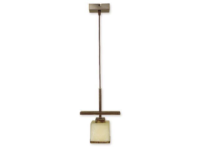 Lampa wisząca Duo zwis 1-płomienny brązowy O1427 BR Lemir