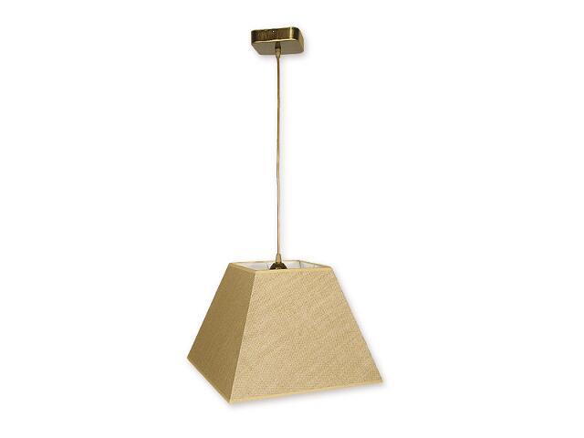 Lampa wisząca Horus zwis 1-płomienny oliwka złoto O1367 OLZ Lemir