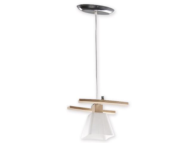 Lampa wisząca Dreno zwis 1-płomienny chrom buk O1477 BK Lemir