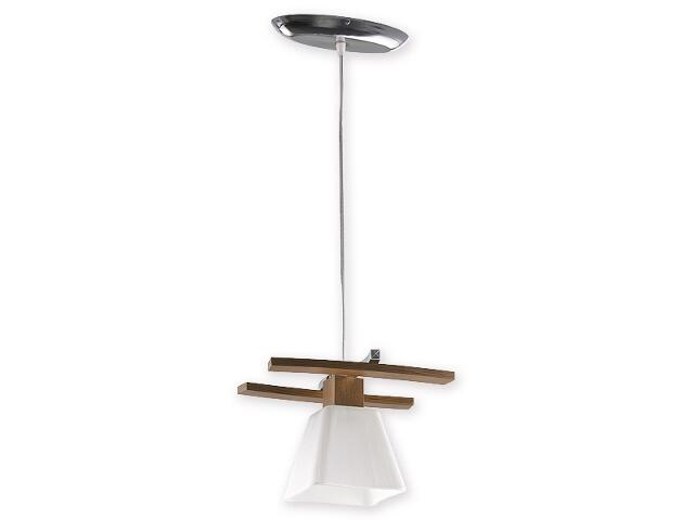 Lampa wisząca Dreno zwis 1-płomienny chrom dąb O1477 DB Lemir
