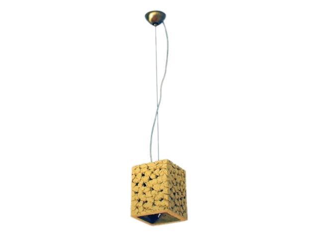 Lampa sufitowa TUBA jasny szamot ażurowy 1742 Cleoni