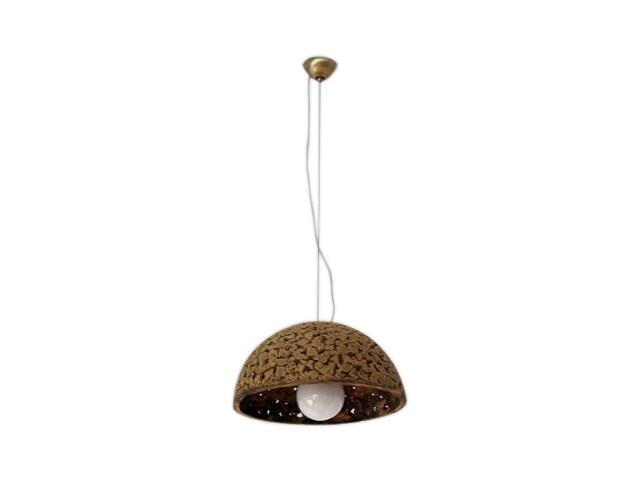 Lampa sufitowa KULA 1/2 320mm ciemny szamot ażurowy 1763 Cleoni