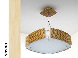 Lampa sufitowa ATLANTIC IV duża sosna 1208WS4201 Cleoni