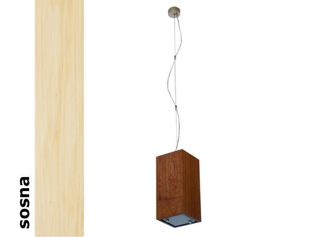 Lampa sufitowa TUBA mała sosna 1203W1M201 Cleoni